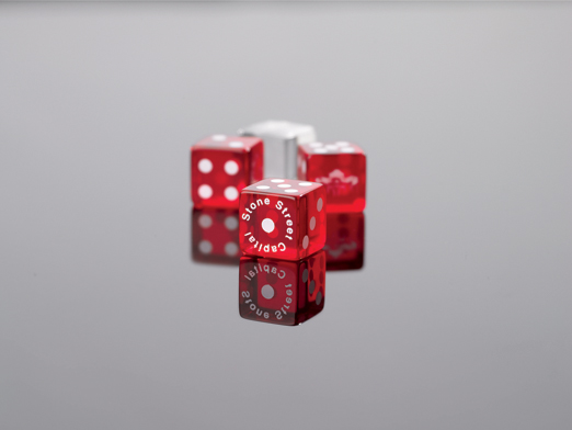 "3/4"" Transparent Custom Casino Game Dice"