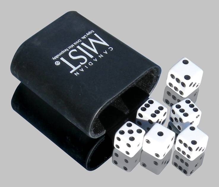 5 Chances Dice Game with Custom Dice Cup