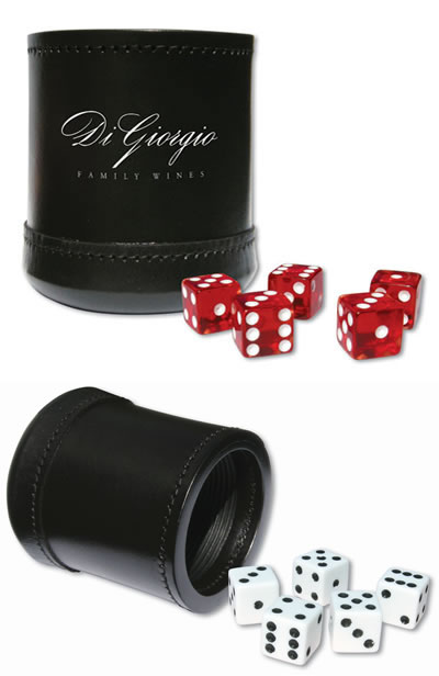 Oval and Round Custom Dice Cups