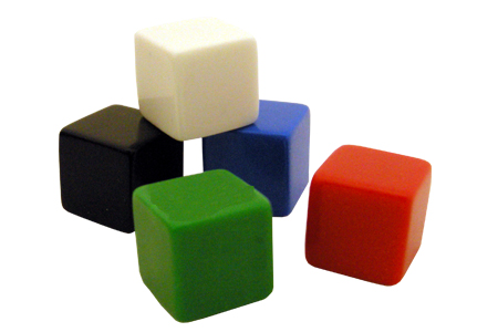 Blank Counting Cubes/Dice