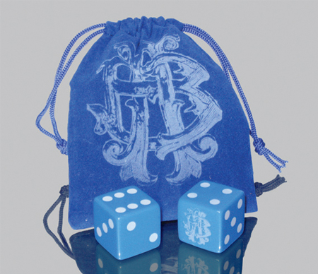 Custom Printed Dice Bag Set