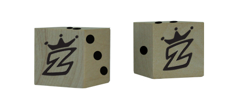Custom 3/4 Inch Wood Dice