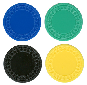 Blank Plastic Poker Chips with Smooth Finish