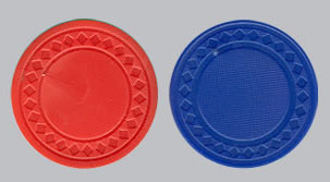 Blank Plastic Poker Chips with Textured Finish