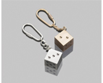 Dice Key Chain, Metal