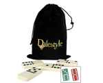 Dominoes in a Drawstring Bag