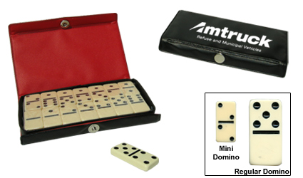 Custom Imprinted Mini-Dominoes Travel Set