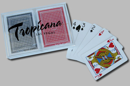 Playing Cards in Custom Clear Acrylic Box