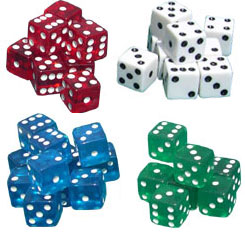 Store Dice/Playing Dice with Spots