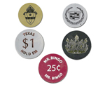 Round Plastic Tokens Single Color