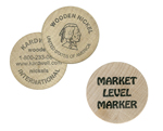 Round Wooden Tokens Single Color