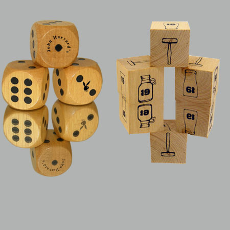 "1"" Wooden Eco Dice Custom Imprinted"