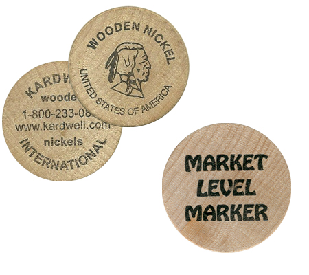 Custom Round Wood Tokens